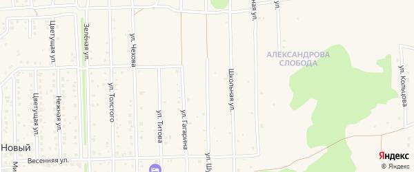 Улица Шукшина на карте Нового поселка с номерами домов