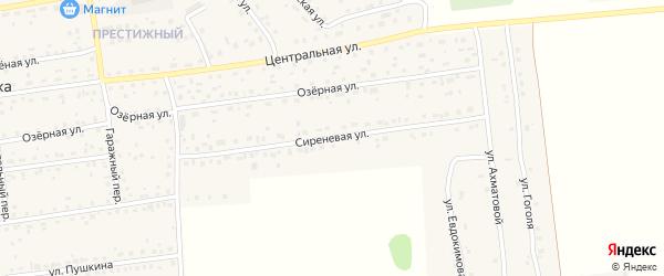 Сиреневая улица на карте садового некоммерческого товарищества Овощевода с номерами домов
