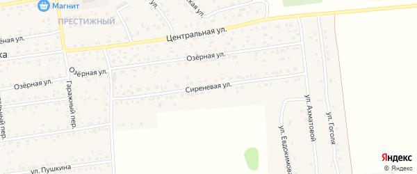 Сиреневая улица на карте села Березовки с номерами домов