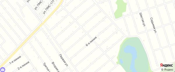 6-я линия на карте садового некоммерческого товарищества Рябинушки с номерами домов