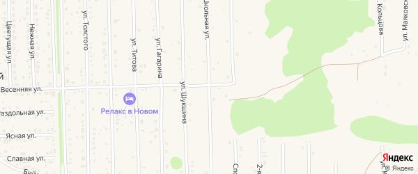 Весенняя улица на карте Нового поселка с номерами домов
