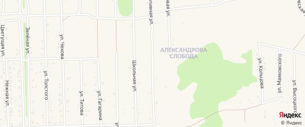 Спортивная улица на карте Нового поселка с номерами домов