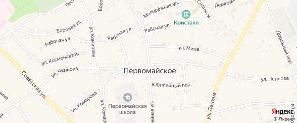 Юбилейная улица на карте Первомайского села с номерами домов