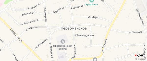 Юбилейный переулок на карте Первомайского села с номерами домов