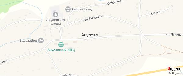 Улица Ленина на карте села Акулово с номерами домов