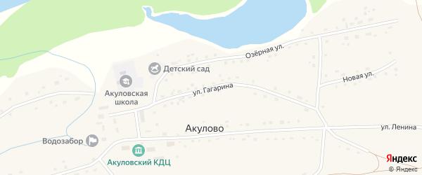 Улица Гагарина на карте села Акулово с номерами домов
