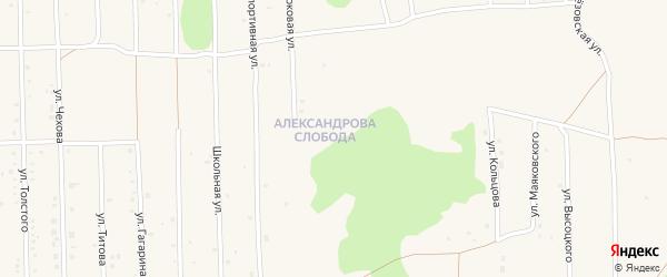 Сиреневая улица на карте садового некоммерческого товарищества Энергостроителя с номерами домов