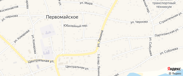 Переулок 2-й Ленина на карте Первомайского села с номерами домов