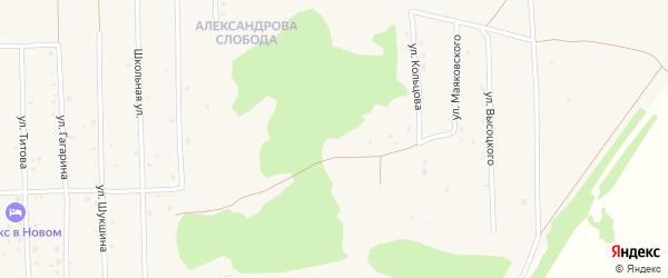 Парковая улица на карте Нового поселка с номерами домов