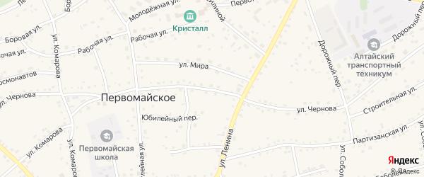 Улица Чернова на карте Первомайского села с номерами домов