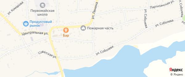 Переулок 1-й Ленина на карте Первомайского села с номерами домов