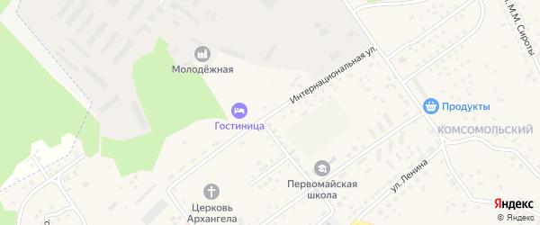 Интернациональная улица на карте Первомайского села с номерами домов