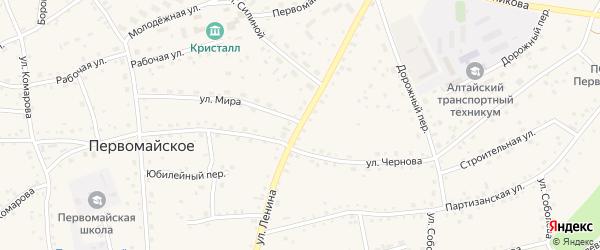 Улица Ленина на карте Первомайского села с номерами домов