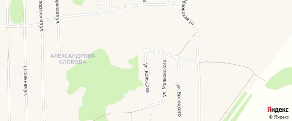 Улица Кольцова на карте Нового поселка с номерами домов