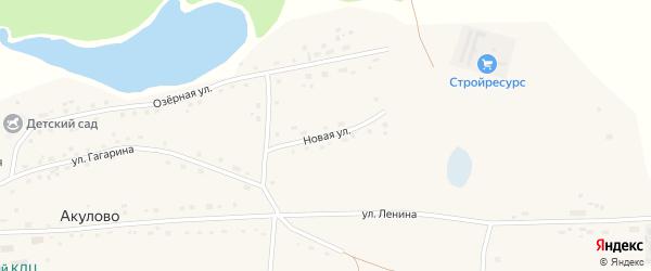 Новая улица на карте села Акулово с номерами домов