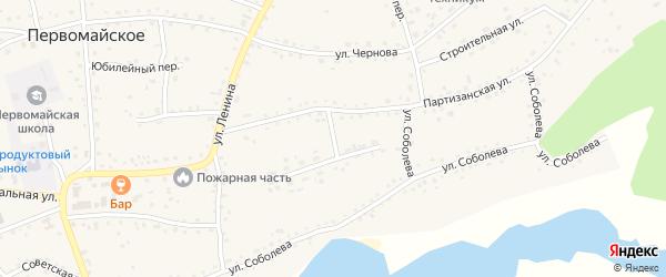Фабричная улица на карте Первомайского села с номерами домов