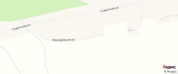 Молодежная улица на карте села Новообинки с номерами домов