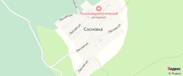 Лесная улица на карте села Сосновки с номерами домов