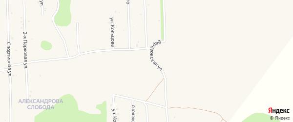 Улица Высоцкого на карте Нового поселка с номерами домов