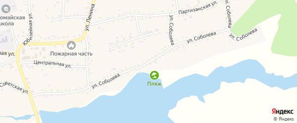 Улица Соболева на карте Первомайского села с номерами домов