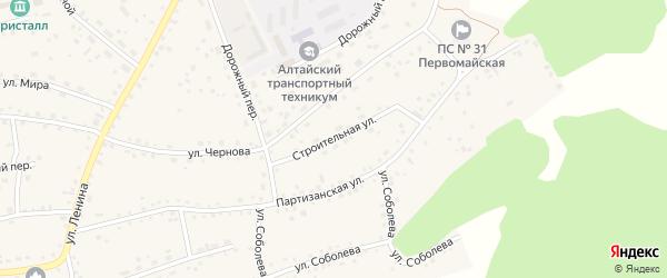 Строительная улица на карте Первомайского села с номерами домов