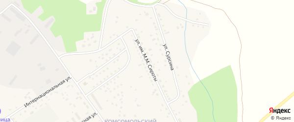 Улица им М.М.Сироты на карте Первомайского села с номерами домов