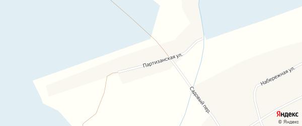 Партизанская улица на карте села Новообинки с номерами домов