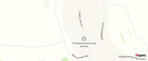 Строительный переулок на карте села Сибирячихи с номерами домов