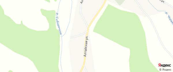 Алтайская улица на карте села Сибирячихи с номерами домов