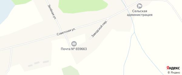 Заводской переулок на карте села Новообинки с номерами домов