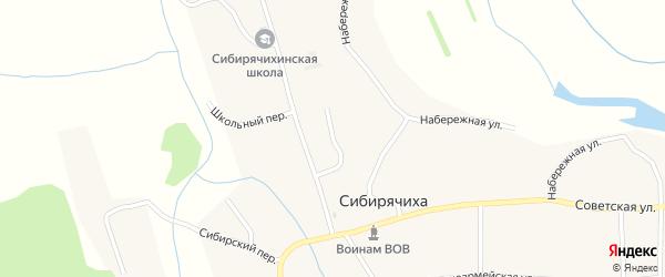 Молодёжный переулок на карте села Сибирячихи с номерами домов