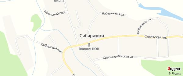 Набережная улица на карте села Сибирячихи с номерами домов