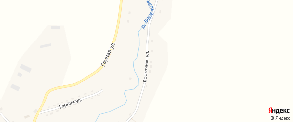 Восточная улица на карте села Березовки с номерами домов