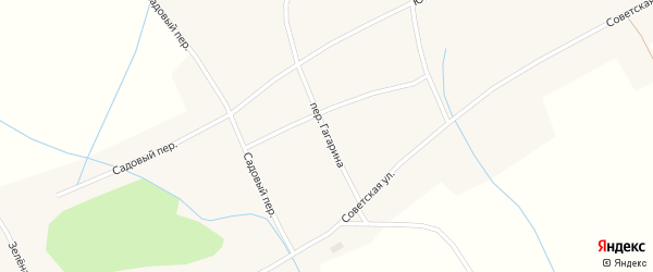 Переулок Гагарина на карте села Новообинки с номерами домов