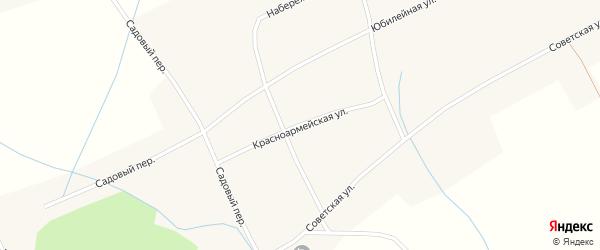 Красноармейская улица на карте села Новообинки с номерами домов