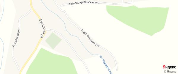 Партизанская улица на карте села Сибирячихи с номерами домов