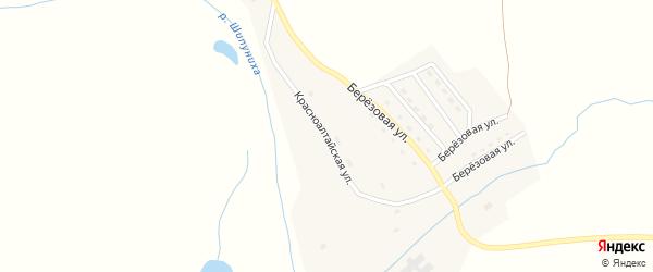 Красноалтайская улица на карте села Березовки с номерами домов