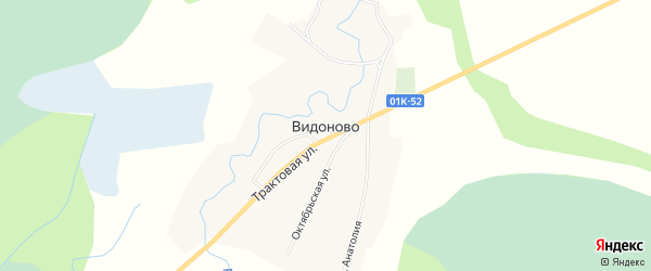 Карта села Видоново в Алтайском крае с улицами и номерами домов