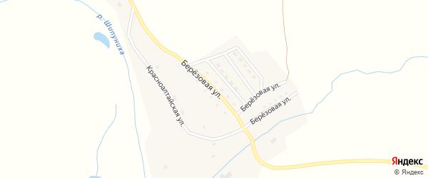 Берёзовая улица на карте села Березовки с номерами домов