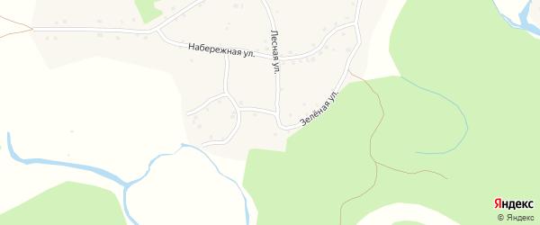 Зеленая улица на карте Петропавловского села с номерами домов