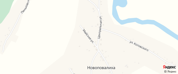 Майская улица на карте села Новоповалихи с номерами домов
