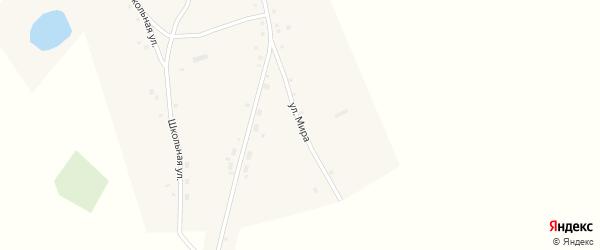Улица Мира на карте села Новоповалихи с номерами домов