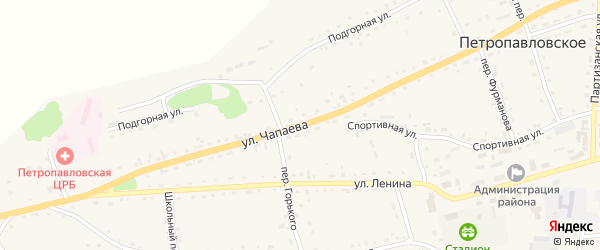 Улица Чапаева на карте Петропавловского села с номерами домов