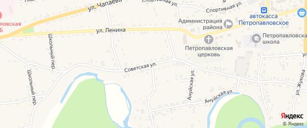 Советская улица на карте Петропавловского села с номерами домов