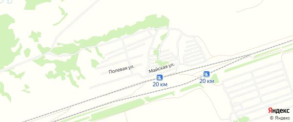 Карта садового некоммерческого товарищества Вагонника в Алтайском крае с улицами и номерами домов