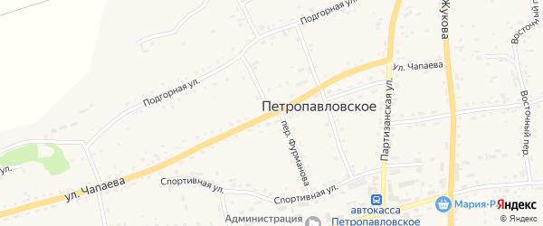 Переулок Фурманова на карте Петропавловского села с номерами домов