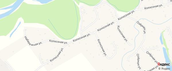 Колхозная улица на карте села Алексеевки с номерами домов
