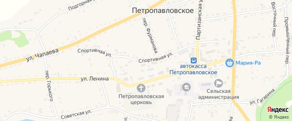 Спортивная улица на карте Петропавловского села с номерами домов