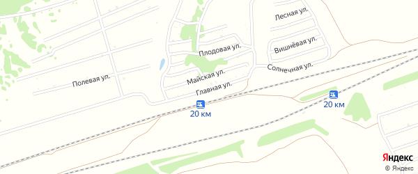 Главная улица на карте садового некоммерческого товарищества Вагонника с номерами домов