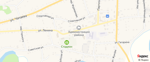 Улица Ленина на карте Петропавловского села с номерами домов
